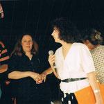 Dr. Claudia Schaefer (Geschäftsführerin der cubus kunsthalle) u Claudia A. Grundei ( 1. Vorsitzende des Vereins für Kunst & Kultur in der cubus kunsthalle e.V.) 1996