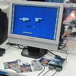 EUzebox in Betrieb mit Spiel Arkanoid