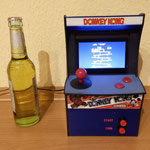 Raspberry Pi mini arcade with 4.3 inch tft and Donkey Kong stickers