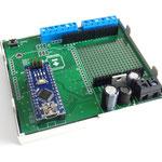 ArduiBox geöffnet, mit Arduino Nano und ohne Shield
