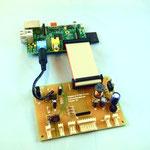 Zusatzplatine verbunden mit dem Raspberry Pi