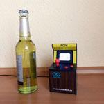 Größenvergleich Duinocade und 0,3l Bierflasche