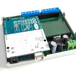 ArduiBox geöffnet, mit Arduino UNO und ohne Shield