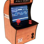 Raspberry Pi mini arcade with 5.6 inch tft and Polyplay stickers