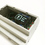 ArduiBox with lid for OLED and mounted OLED shield