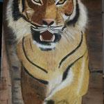 Tiger    Acryl auf Leinwand  40 x 90  CHF 1'000