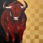 Stier   Acryl auf Leinwand  100 x 100   CHF 1'500