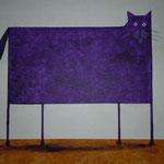Moderne Katze     (Nachahmung Daniel Patrick Kessler)  40 x 50   CHF 350