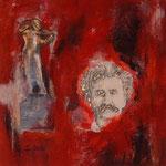 Johann Strauss     Collage  Acryl auf Leinwand  40 x 40  CHF 250