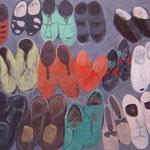 Schuhe    Acryl auf Leinwand    80 x 100   CHF 900