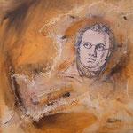 Franz Schubert     Collage  Acryl auf Leinwand  40 x 40  CHF 250