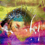 Magical forces, 2018, tecnica mista, 11 x 11 cm. (NOVEMBRE 2018)