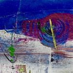 The new time, 2018, tecnica mista, 13 x 11 cm. (SETTEMBRE 2018)