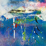 Sogno e dissolvenze, 2019, tecnica mista, 11 x 11 cm. (GENNAIO 2019)