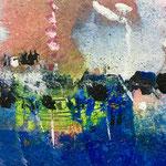 Lunghi echi, 2018, tecnica mista, 11,5 x 13,5 cm. (DICEMBRE 2018)