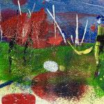 Presenza e incanto, 2018, tecnica mista, 13 x 11 cm. (OTTOBRE 2018)