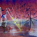 Joyful rhythms, 2018, tecnica mista, 13 x 11 cm. (SETTEMBRE 2018)