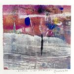 ESSENZ EINER WARTEZEIT, 2019, tecnica mista, 11 x 11 cm. (GENNAIO 2019)