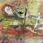 Angelo dell'aria, 2018, tecnica mista, 13 x 10 cm. (MAGGIO 2018)
