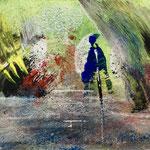 Le vent et la rivière, 2018, tecnica mista, 13 x 10 cm. MAGGIO 2018