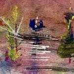 The sunset dance, 2018, tecnica mista, 13 x 10 cm. (LUGLIO 2018)