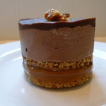 Salted Caramel, Biscuit and Belgian Chocolate Mousse
