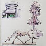 Guggenheim Museum (Ausstellung von Giacometti)