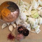 Zwiebel, Knoblauch und Gewürze
