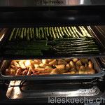 …und Kartoffeln und Spargeln fertigbraten