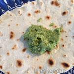 Tortilla mit Guacamole…