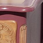 Commode peinture rose