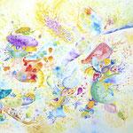 「カンタービレ」  Cantabile / 2016 / Acrylic on Paper / 145.5×113cm