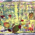 「Autumn」 / 2018 / Poster Color on Paper / 54.2×38.2cm