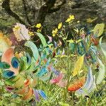 「空っぽ」森の展示室2021  Empty - Exhibition in the woods of wild grass in Wachi 2021 / Acrylic on Glass / 36×36×33cm