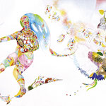 「遊びの庭」  The play garden / 2005 / Acrylic, Water color, Pastel on Paper / 515×364cm