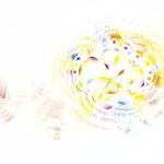 「あしのうら2」Sole-2 / 2020 / Acrylic on Paper / 42×29.7cm