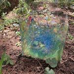 「空っぽ」森の展示室2021  Empty - Exhibition in the woods of wild grass in Wachi 2021 / Acrylic on Glass / 25×25×26cm