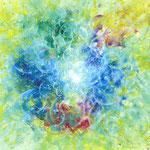 「あふれるように」  Like Overflowing / 2016 / Acrylic on Paper / 70×56cm