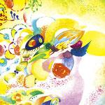 「Rikki」 / 2014 / Acrylic on Paper / 7×7cm
