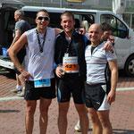 Mit Matze und Andy im Ziel