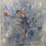 Bailarina - Oleo s/lienzo-80x80