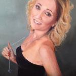 Retrato de Conny: 65x78. Oleo lienzo