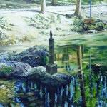 Nacimiento del Ebro – Óleo sobre panel – 92x73