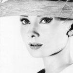 Audrey Hepburn - Grafito - 21x30