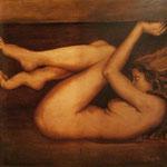 Eva sigue en la oscuridad - Óleo sobre lienzo - 100x100