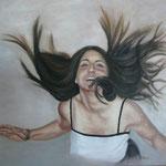 El salto de Aldara – Oleo sobre lienzo - 56x55