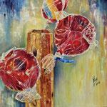 Pommes sucrées - Óleo sobre lienzo – 55 x 46