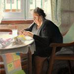 La abuela Irene - pastel sobre cartón encolado a tabla - 110x75