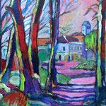 Primavera en Auvers sur Oise – Acrílico – 22x16