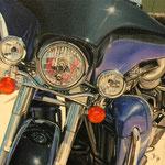 Harley Davidson - Oleo sobre tabla entelada - 24x24